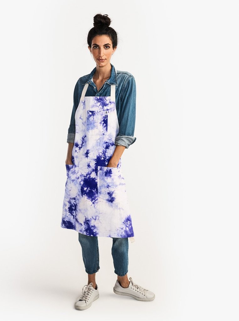 Image of tye-dye apron from Hedley & Bennett